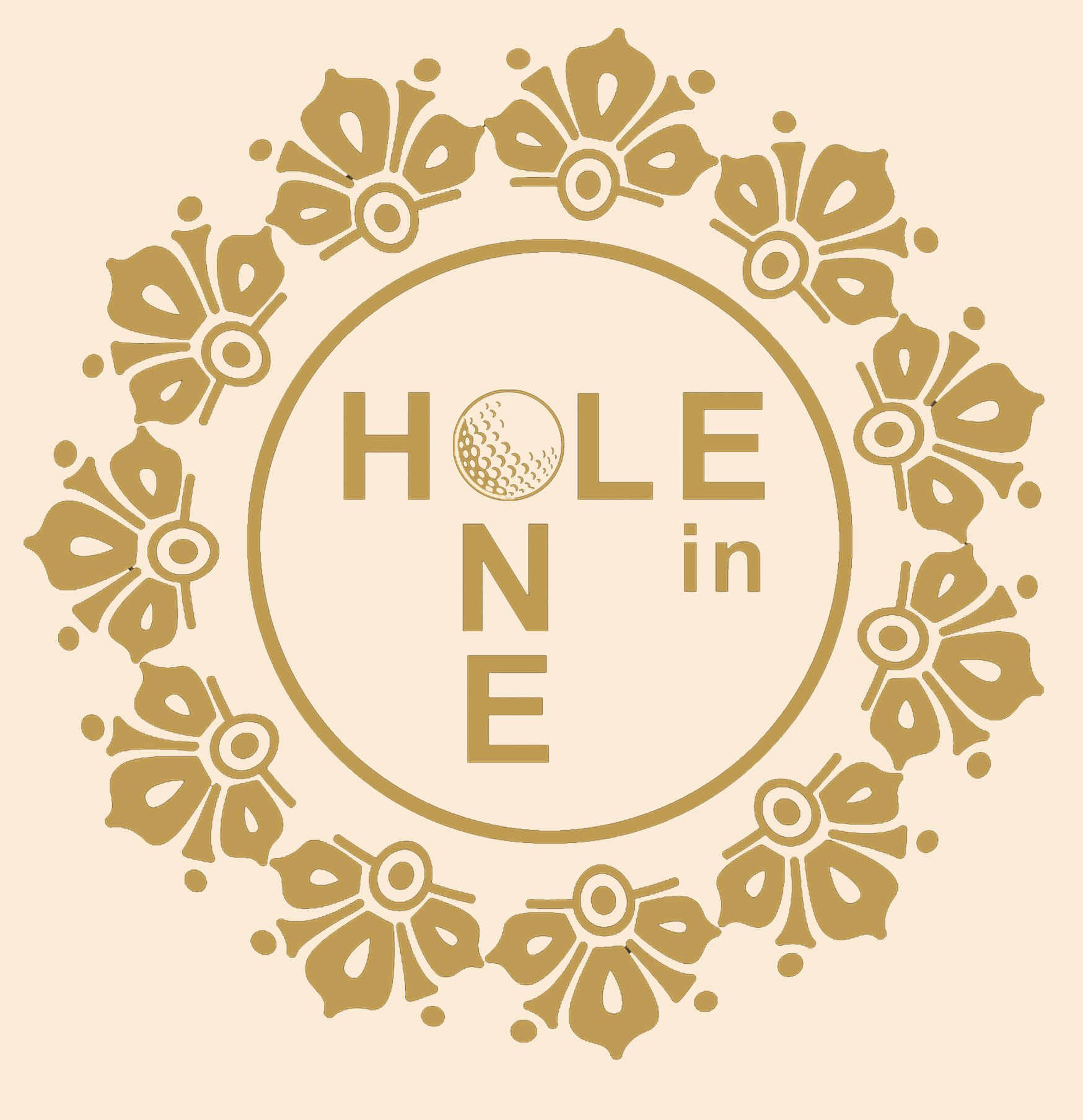 Logo gold hole in One gold Hi